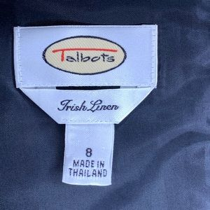 Talbots Dresses - TALBOTS Linen Sleeveless Career A Line Dress